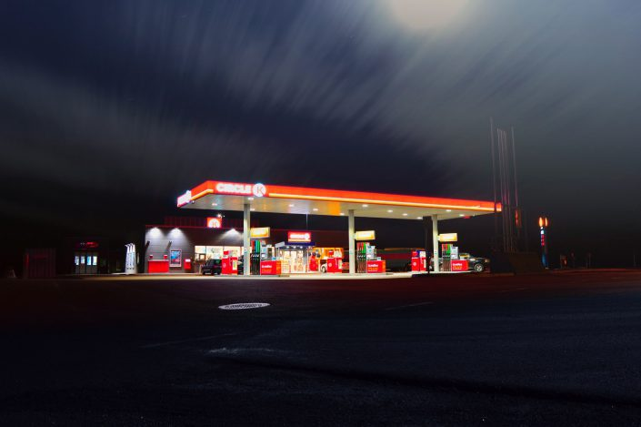 image of gas station
